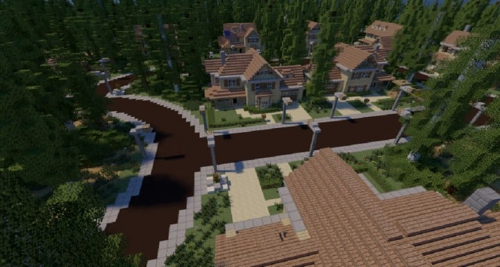 GREENVILLE idyllic village for download Map Schematics minecraft building ideas blueprints 12
