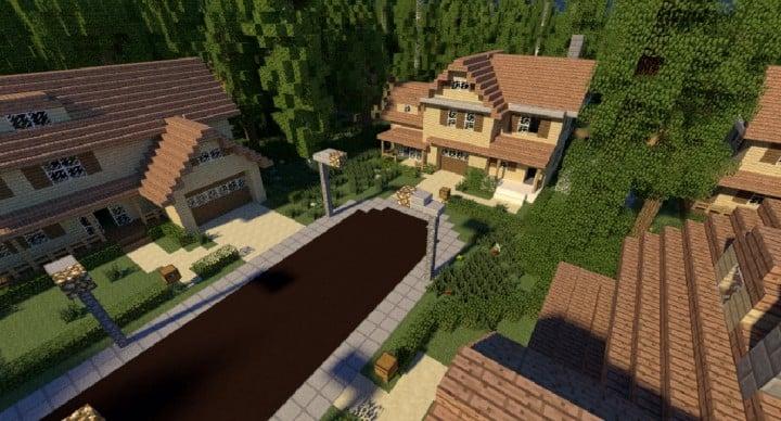 GREENVILLE idyllic village for download Map Schematics minecraft building ideas blueprints 13