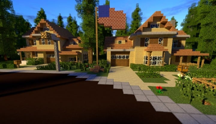 GREENVILLE idyllic village for download Map Schematics minecraft building ideas blueprints 15