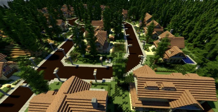 GREENVILLE idyllic village for download Map Schematics minecraft building ideas blueprints 17