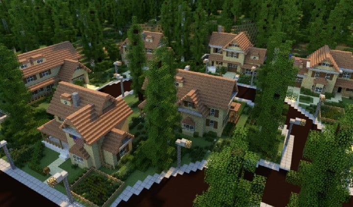 Greenville idyllic village minecraft building inc for Modern house schematic