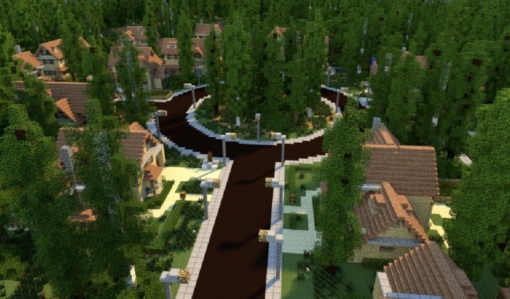 GREENVILLE idyllic village for download Map Schematics minecraft building ideas blueprints 3