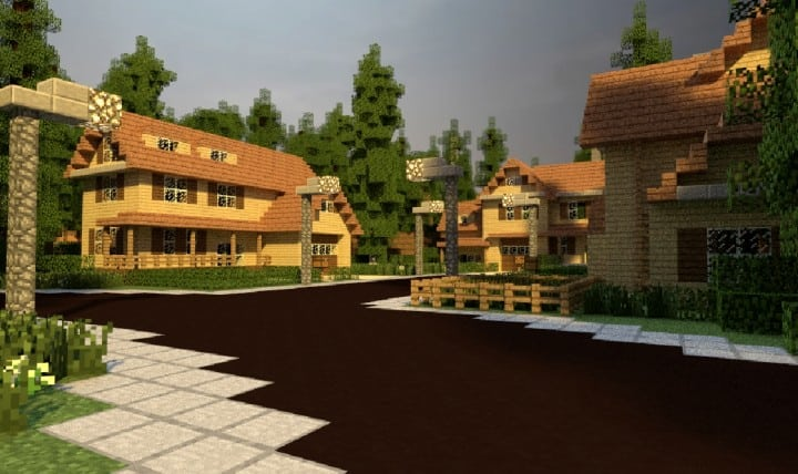 GREENVILLE idyllic village for download Map Schematics minecraft building ideas blueprints 5