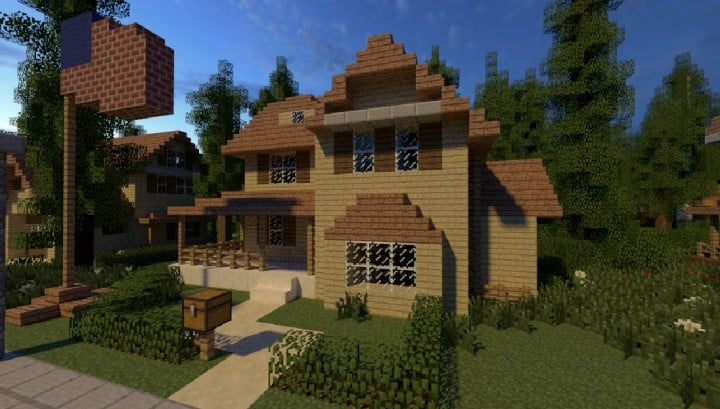 GREENVILLE idyllic village for download Map Schematics minecraft building ideas blueprints 7