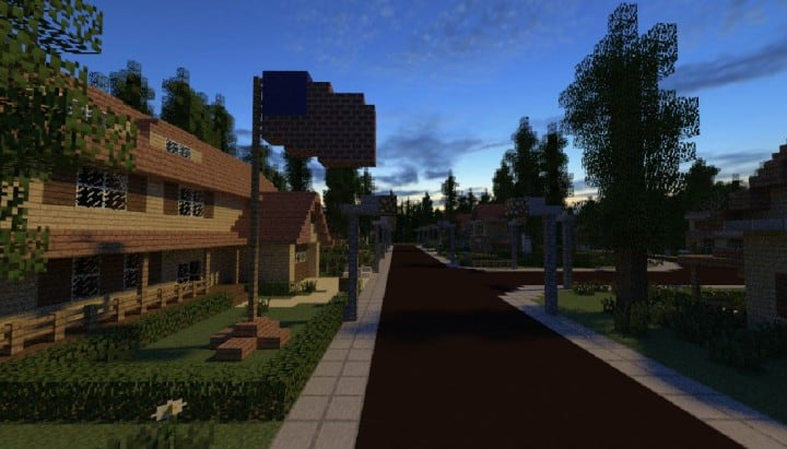 GREENVILLE idyllic village for download Map Schematics minecraft building ideas blueprints 9