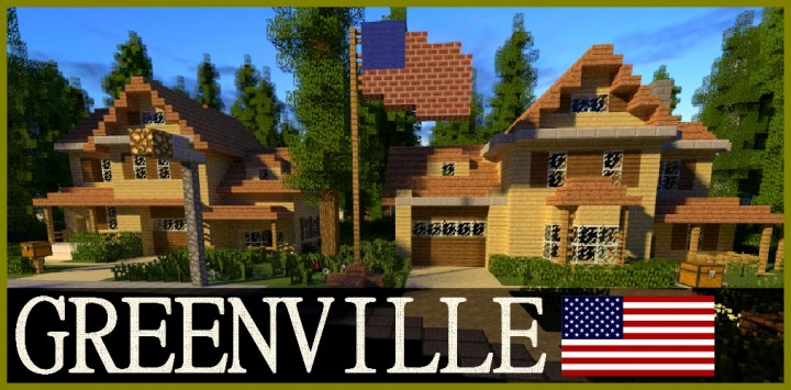 GREENVILLE idyllic village for download Map Schematics minecraft building ideas blueprints