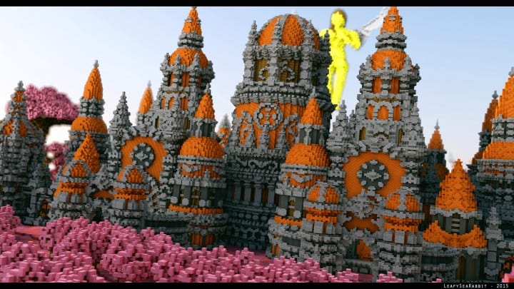 Melancholic Love minecraft building castle pink valentines day 2