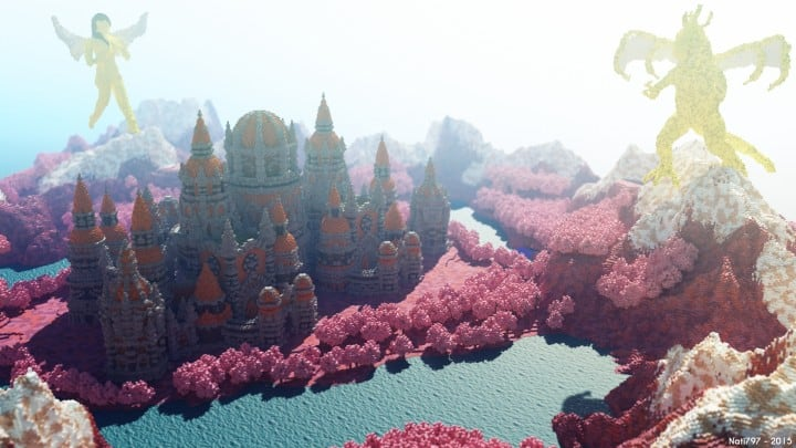 Melancholic Love minecraft building castle pink valentines day 3