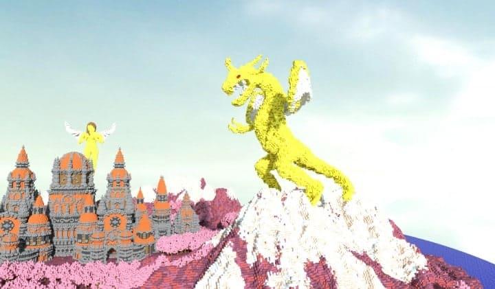 Melancholic Love minecraft building castle pink valentines day 4 dragon