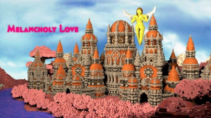 Melancholic Love minecraft building castle pink valentines day 5