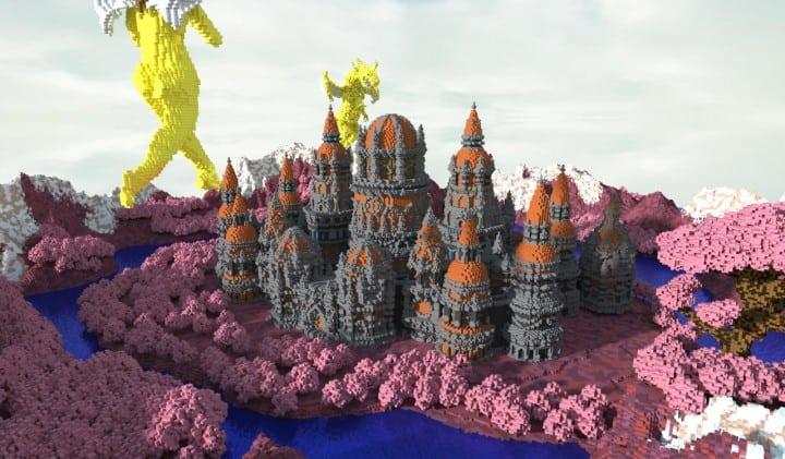 Melancholic Love minecraft building castle pink valentines day 6