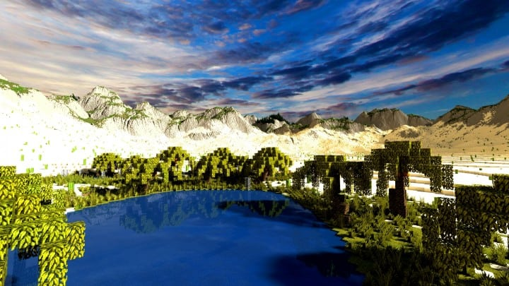 Realistic desert and mountain terrain minecraft building locations world map 10