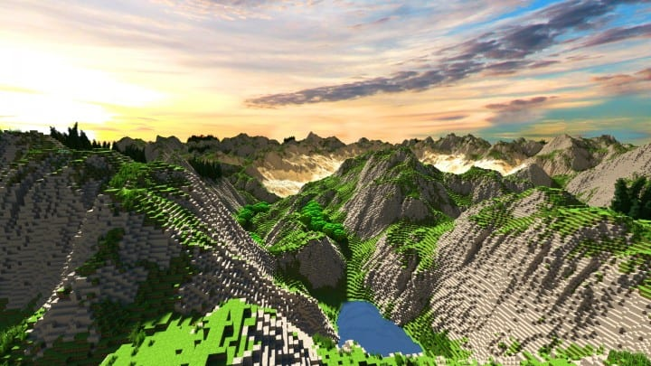 Realistic desert and mountain terrain minecraft building locations world map 3