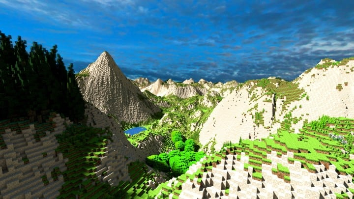 Realistic desert and mountain terrain minecraft building locations world map 4