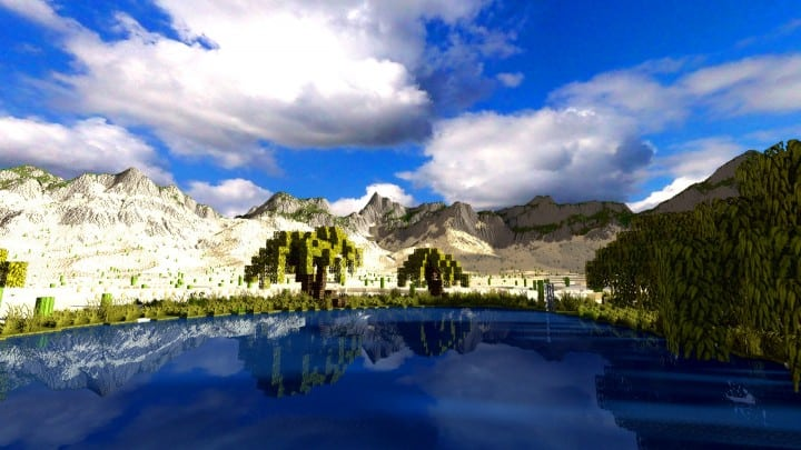 Realistic desert and mountain terrain minecraft building locations world map 6