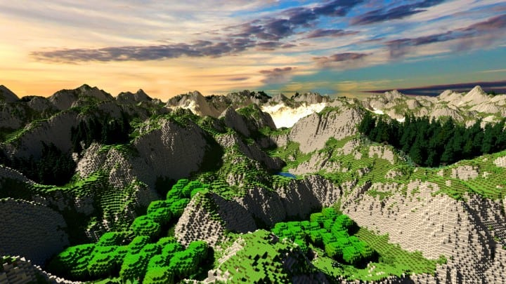 Realistic desert and mountain terrain minecraft building locations world map 7