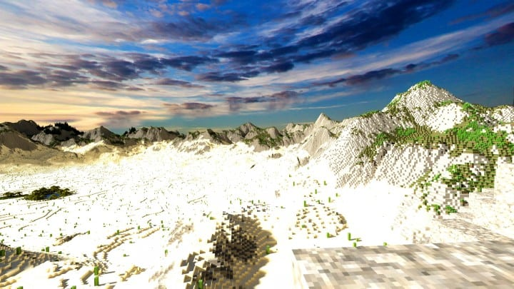Realistic desert and mountain terrain minecraft building locations world map 8