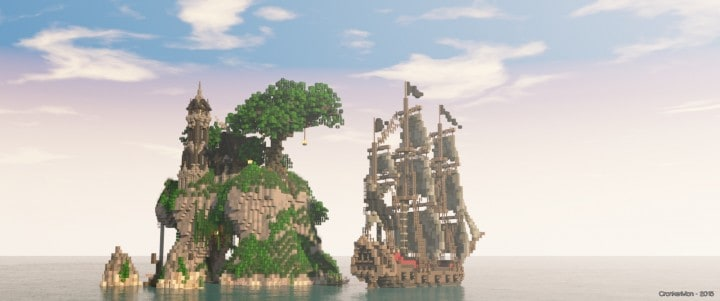 Sustinere Island house minecraft building ideas boat ship sail 4