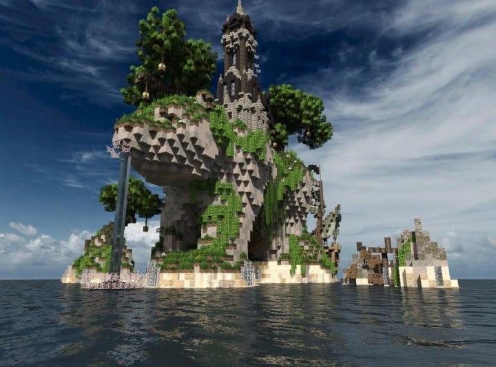 Sustinere Island house minecraft building ideas boat ship sail 6