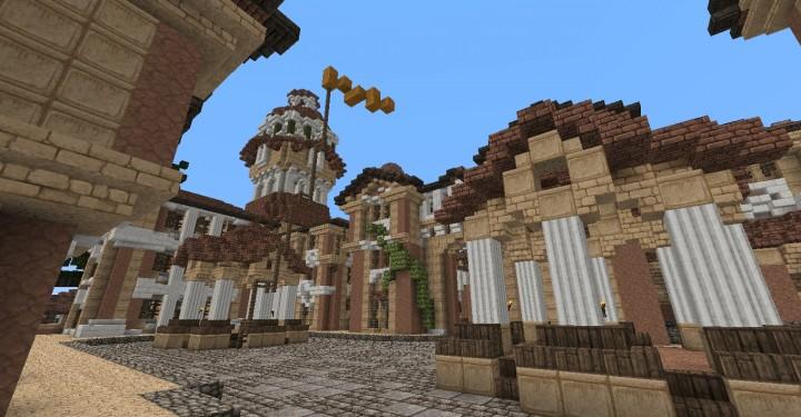 The Hobbit  Esgaroth Dale Erebor & Ravenhill minecraft building ideas movie town city village 6