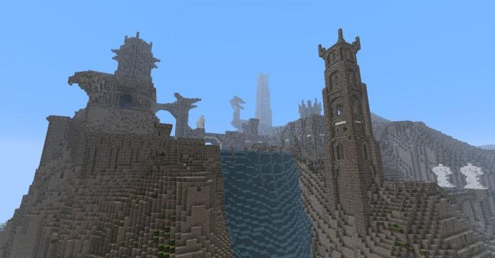 The Hobbit  Esgaroth Dale Erebor & Ravenhill minecraft building ideas movie town city village 7