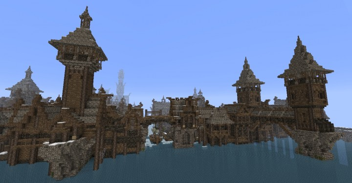 The Hobbit  Esgaroth Dale Erebor & Ravenhill minecraft building ideas movie town city village 8