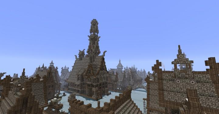 The Hobbit  Esgaroth Dale Erebor & Ravenhill minecraft building ideas movie town city village 9