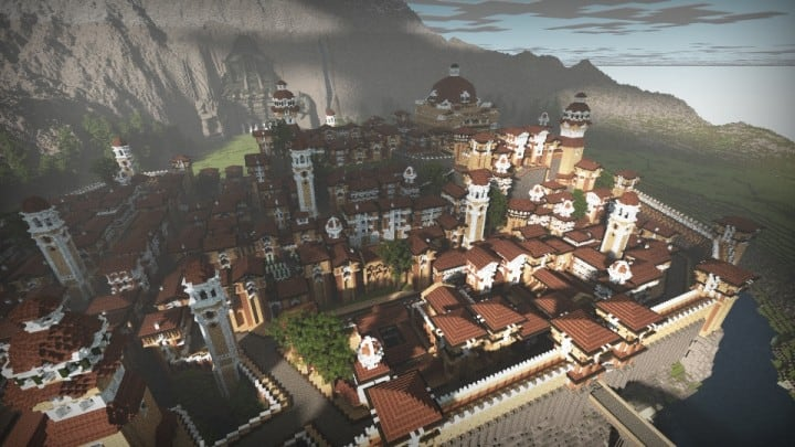 The Hobbit  Esgaroth Dale Erebor & Ravenhill minecraft building ideas movie town city village