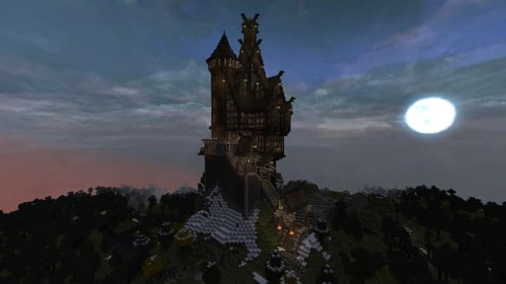 Viking Castle minecraft building ideas house home small tower 16