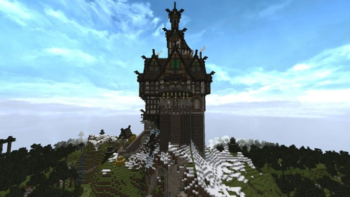 Viking Castle minecraft building ideas house home small tower 2