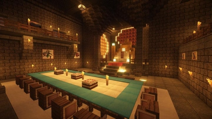 Castle Karazhan minecraft building ideas stone wall village banquet hall