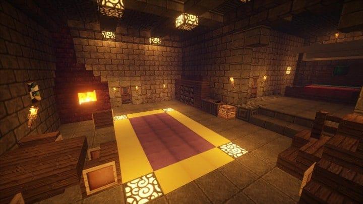 Castle Karazhan minecraft building ideas stone wall village guest chambers 2
