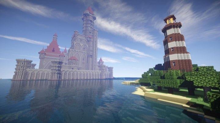 Castle Karazhan minecraft building ideas stone wall village light house 3