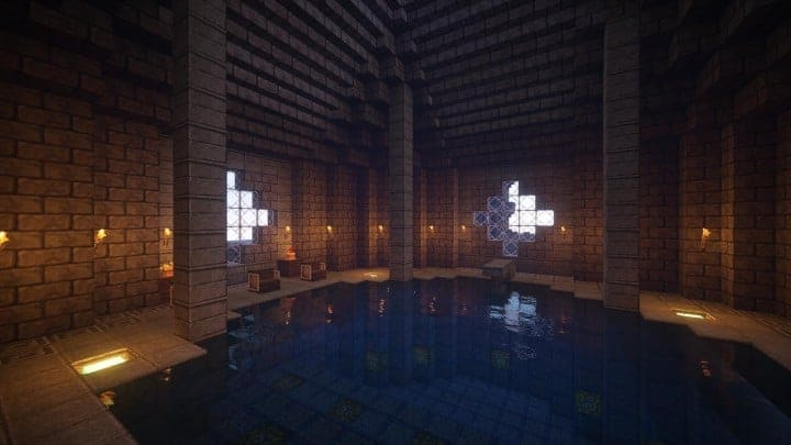 Castle Karazhan minecraft building ideas stone wall village mide3n of virtue pool