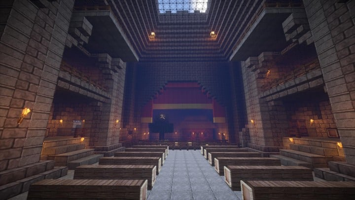 Castle Karazhan minecraft building ideas stone wall village opera hall