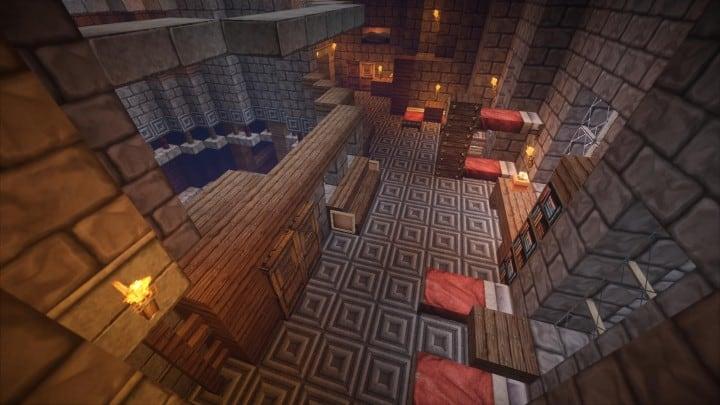 Castle Karazhan minecraft building ideas stone wall village severants quarters
