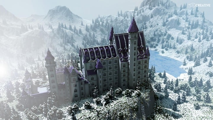 Castle Neuschwanstein Scale 11 Minecraft Building Inc