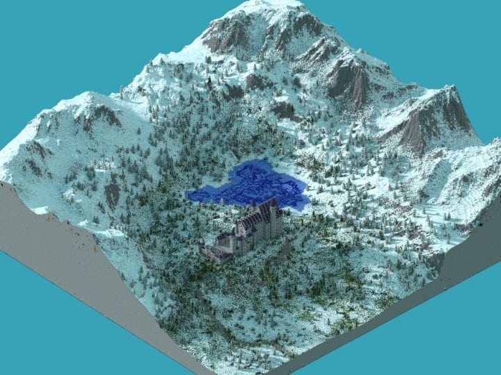 Castle Neuschwanstein in Minecraft Scale 1 to 1 Project  building ideas mountains 4