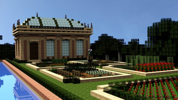 Chateau de Morangy minecraft building ideas 8