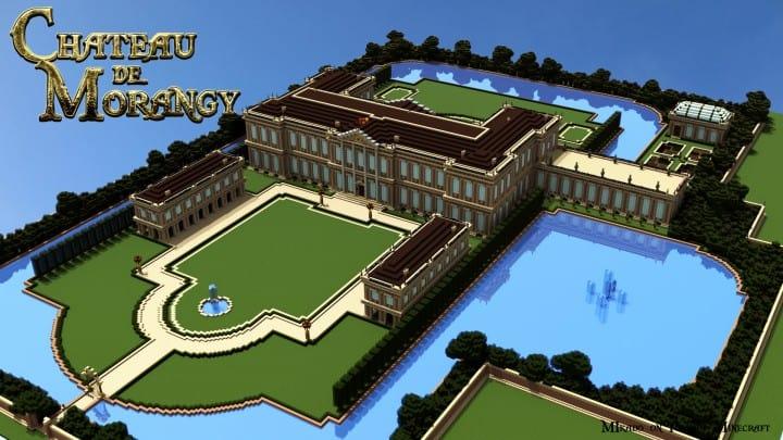 Chateau de Morangy minecraft building ideas