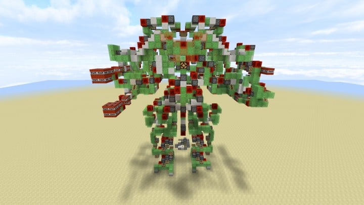 Colossus - Controllable Attack Robot  No Command Blocks minecraft building ideas amazing