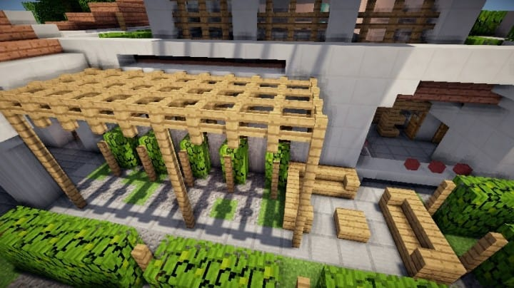 Grapes Mediterranean WineStore vinyard farm modern minecraft building 2