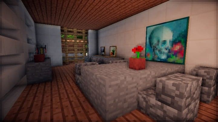 Grapes Mediterranean WineStore vinyard farm modern minecraft building 6