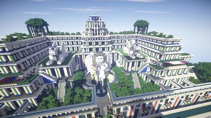 Hanging gardens of babylon minecraft building ideas stone temples