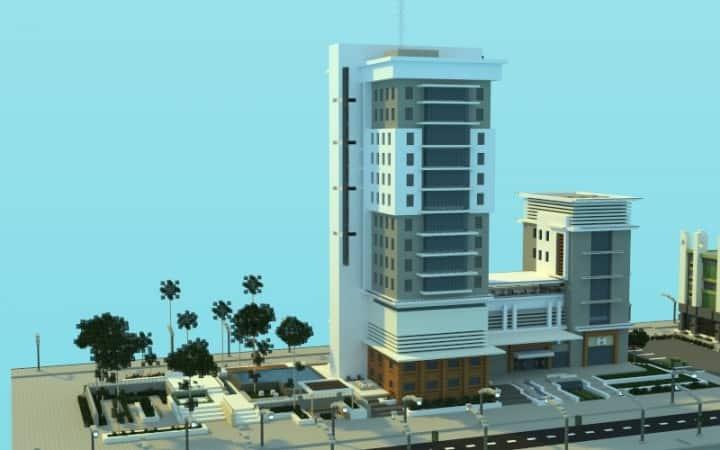 Modern Hospital minecraft building ideas schematic download city 2