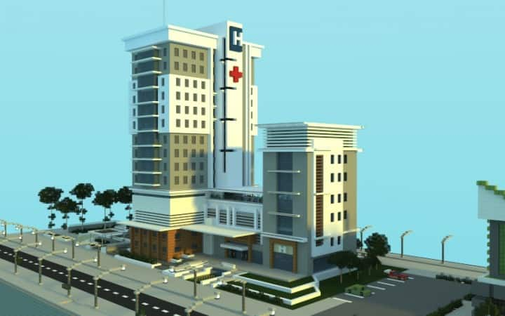 modern hospital minecraft building inc