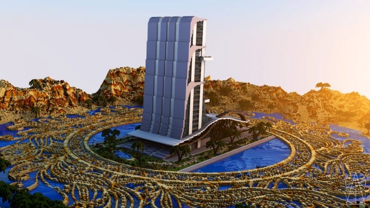 Oasis Casino minecraft building ideas inc beautiful amazing tower water design exterior 3