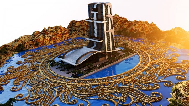 Oasis Casino minecraft building ideas inc beautiful amazing tower water design exterior
