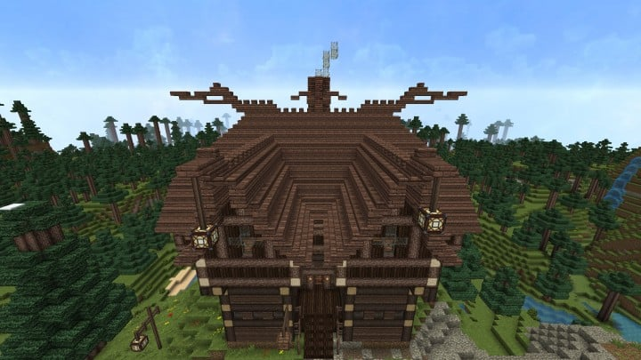 Ravenhold Skyrim inspired project minecraft house castle midevil town download 12