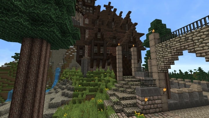 Ravenhold Skyrim inspired project minecraft house castle midevil town download 4